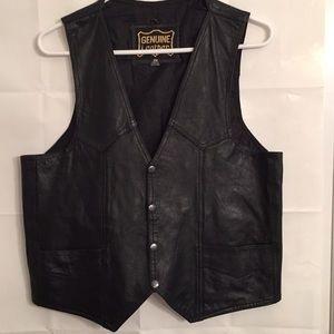 Genuine Leather Men's Western Vest Size 38
